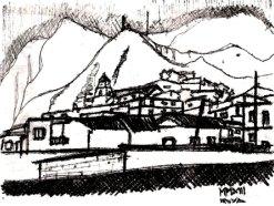 Iruya. Dibujo de Cecilia Sanchez