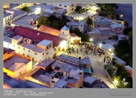 La plaza frente a la Parroquia. Gentileza de Pablo Soler para La Gaceta