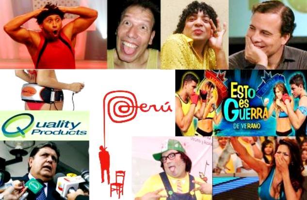 Collage acerca de banalización de medios en Perú