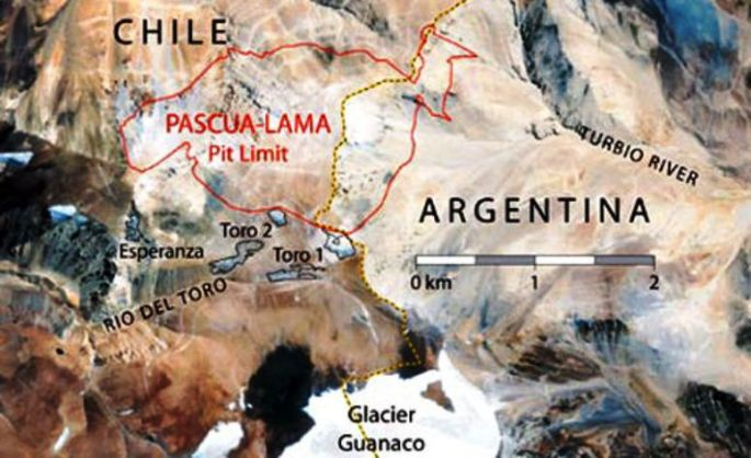 Mapa de Pascua Lama