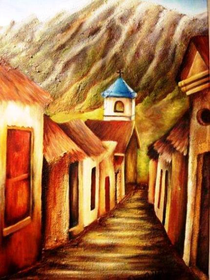 Iruya. Pintura de María Rivera