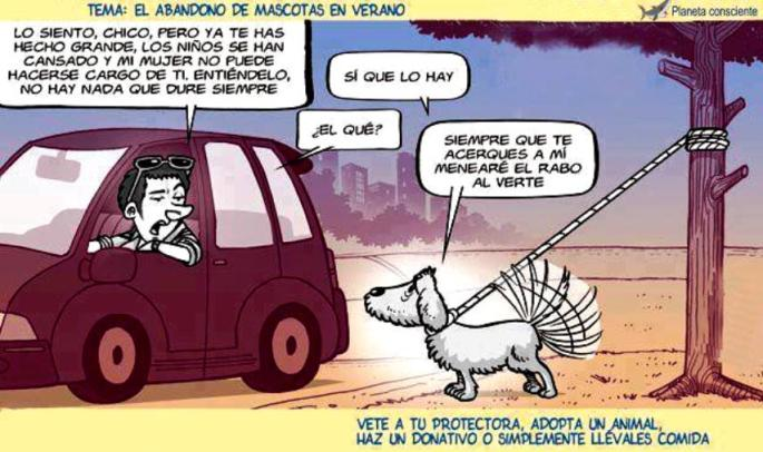 Abandono de mascotas (por Planeta Consciente)