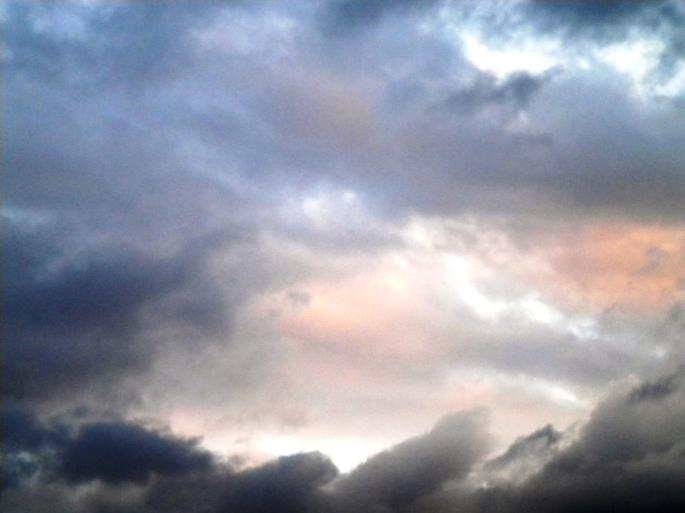 Un cielo de atardecer