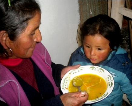 Agustín también come