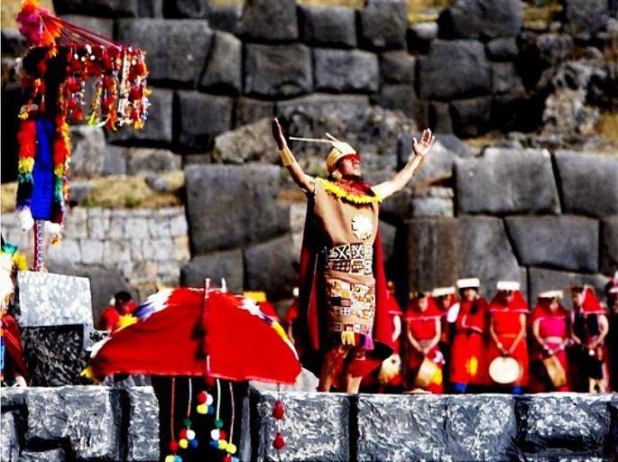Parte de la ceremonia del Inti Raymi, en Cusco