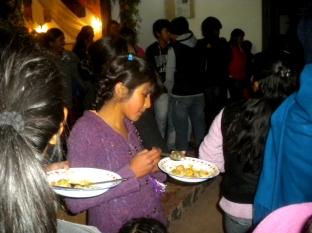 Durante la cena