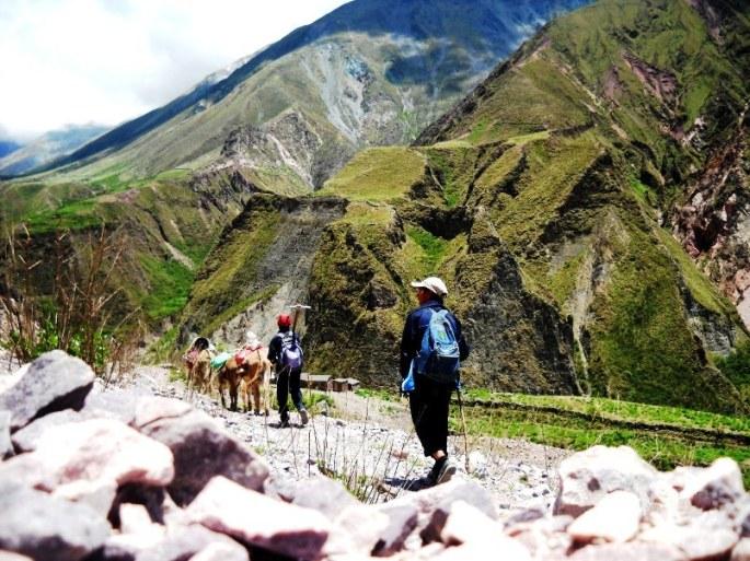 Llegando a San Juan (Iruya), a poco más de 3000 msnm. (Foto: Eva Mangieri)