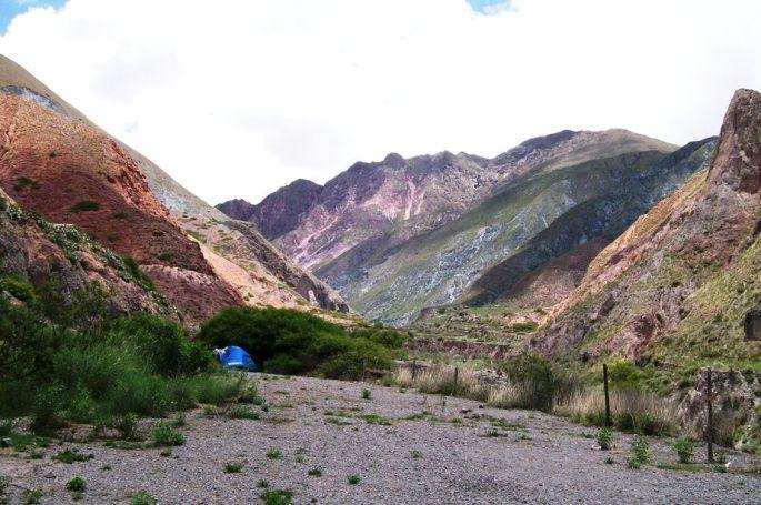 Bella vista del camping en Iruya. (Foto: Ale Dionicio)