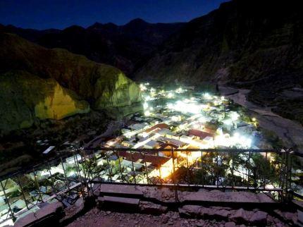 """Impactante vista nocturna de Iruya, desde El Mirador """"La Cruz"""". (Foto: Diego Iván Díaz)"""