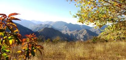 Un bello atardecer otoñal, desde Campo Achiras. (Foto: Pablo Harvey)