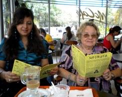 Aurora y Anita, en Mc Donald's de San Isidro, con NOTIRUYA