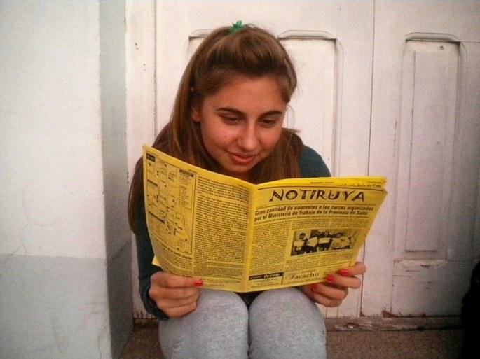 Malena, de San Eduardo, con un ejemplar de NOTIRUYA