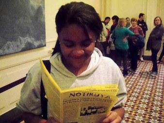 Marina, de Brasil, con NOTIRUYA en la Casa Rosada