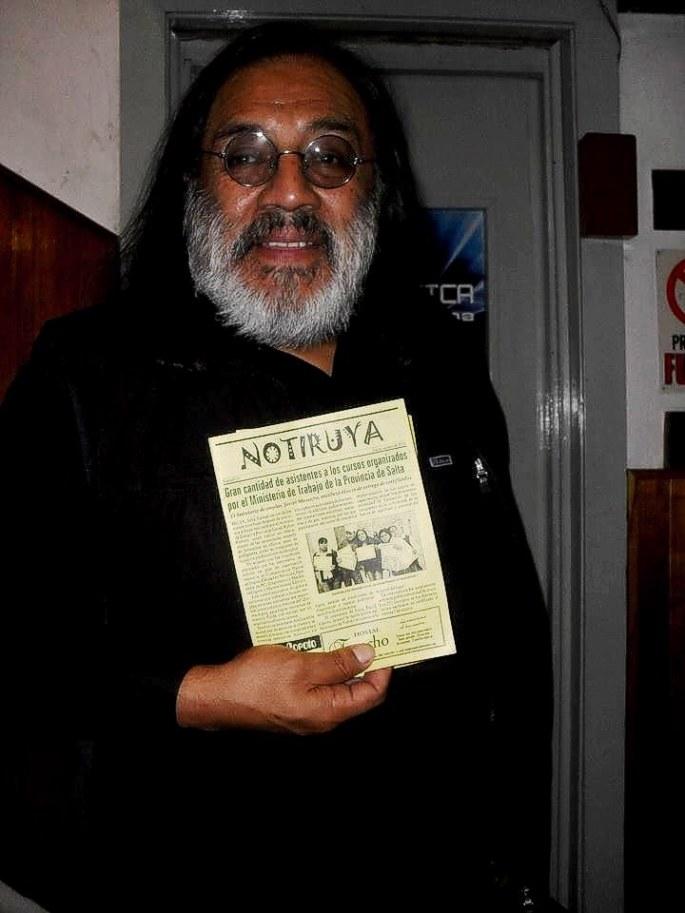 Tukuta Gordillo, gran músico de Tilcara, con NOTIRUYA. Gracias por la buena onda!!!