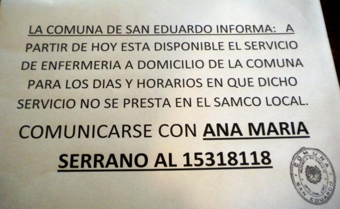 La Comuna de San Eduardo informa