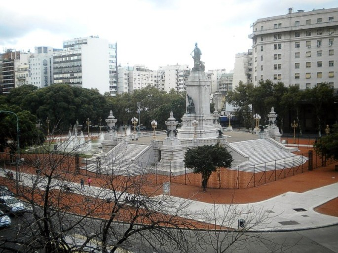 Vista de una parte de la Plaza Congreso