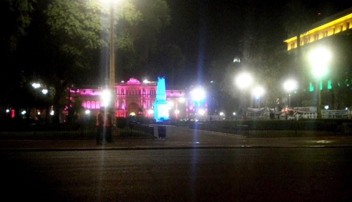 Y la Casa Rosada, un poco más cerca