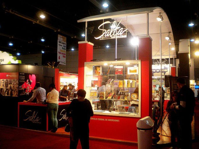 El stand de Salta, en la Feria del Libro