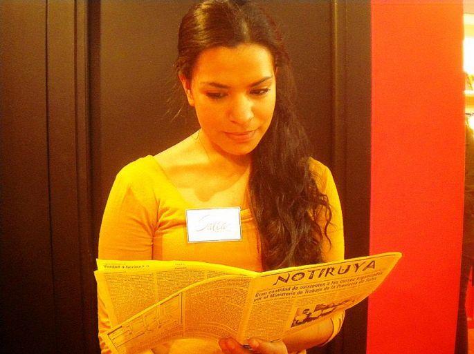 Sara lee NOTIRUYA en el stand de Salta