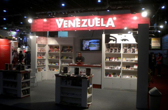 Vista del stand de Venezuela. Feria del Libro