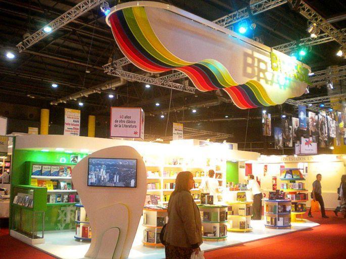El stand de Brasil. Feria del Libro
