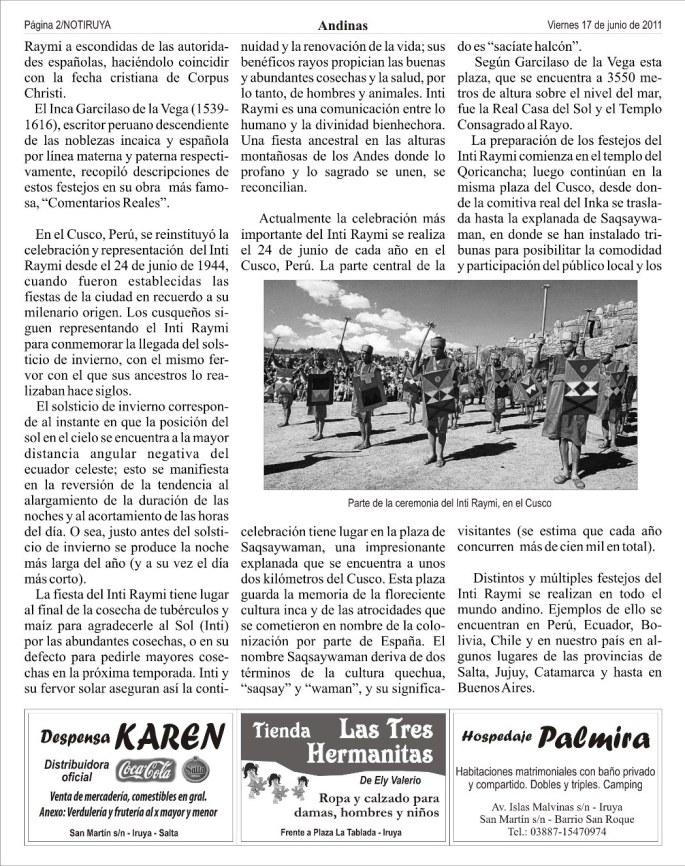 Nota Inti Raymi, página 2