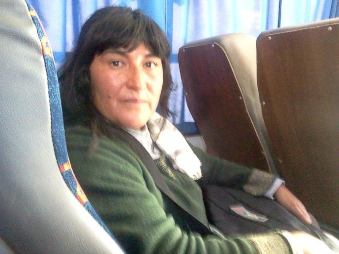 """Antonia Carpanchay, directora de la Escuela No 4143 """"Congreso de Tucumán"""", de Pueblo Viejo (Iruya)"""