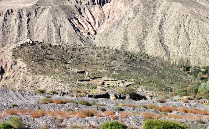 En el camino hacia Iruya, por la ruta nacional No 9 se llega a Tilcara. A menos de un km se encuentra el Pucará (fortaleza), legado de los ancestros andinos (los tilcaras). (Foto: Pablo Harvey)