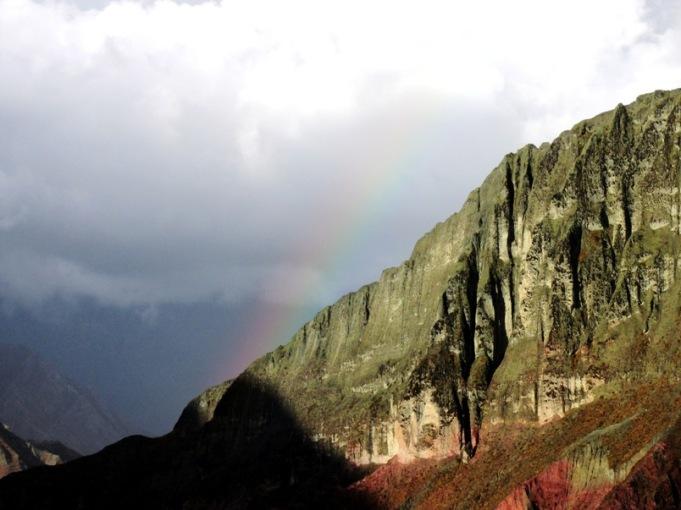 Y finalmente, el tenue arco iris