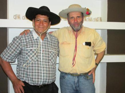 Héctor Amante, con Pablo Harvey.