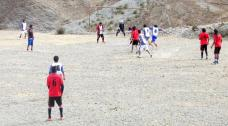 SAN JUAN, Iruya.- Partido de fútbol. Momento del segundo gol de San Juan. (Foto: Pablo Harvey).
