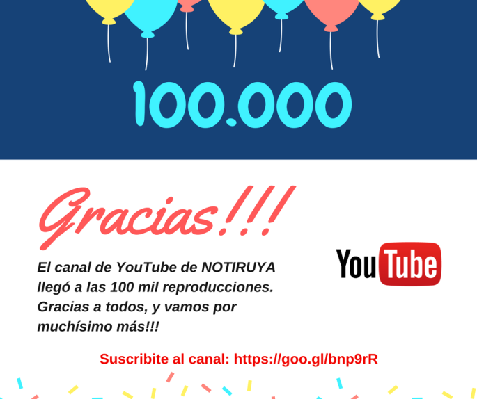 15011 NOTIRUYA YouTube 100 mil