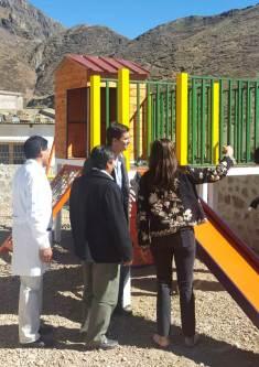 ABRA DEL SAUCE, Iruya, Salta, 09/10/18.- Las autoridades recorriendo las nuevas instalaciones.
