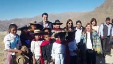 ABRA DEL SAUCE, Iruya, Salta, 09/10/18.- Recuerdo de la inauguración de la escuela N° 4272.