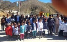 ABRA DEL SAUCE, Iruya, Salta, 09/10/18.- Foto de recuerdo de la inauguración.