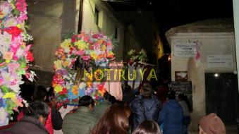 IRUYA, Salta, Argentina, 13/10/18.- La procesión nocturna por las calles de Iruya, en la octava de la Fiesta del Rosario. (Foto: Pablo Harvey).